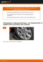 Stabilisatorstang veranderen VW TRANSPORTER: werkplaatshandboek