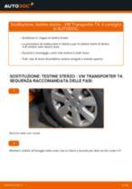 VW TRANSPORTER IV Bus (70XB, 70XC, 7DB, 7DW) Testina dello Sterzo sostituzione: tutorial PDF passo-passo