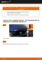 Kuinka vaihtaa polttoainesuodatin VW Transporter T4-autoon – vaihto-ohje
