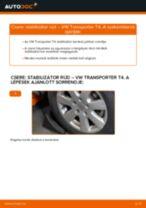 Hogyan cseréje és állítsuk be Stabilizátor összekötő VW TRANSPORTER: pdf útmutató