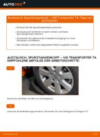 Wie der Wechsel durchführt wird: Spurstangenkopf 2.5 TDI VW T4 Transporter tauschen