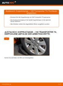Wie der Wechsel durchführt wird: Koppelstange 2.5 TDI VW T4 Transporter tauschen