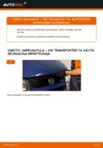 Kuinka vaihtaa jarrusatula eteen VW Transporter T4-autoon – vaihto-ohje