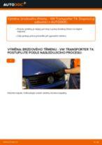 Jak vyměnit a regulovat Třmen brzdy VW TRANSPORTER: průvodce pdf
