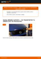 VW TRANSPORTER Bremžu suports maiņa: bezmaksas pdf
