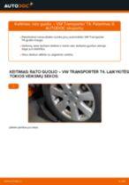 Pakeisti Rato guolis VW TRANSPORTER: instrukcija