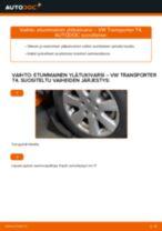 Kuinka vaihtaa etummainen ylätukivarsi VW Transporter T4-autoon – vaihto-ohje