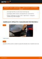 Kako zamenjati avtodel motorna olja in filter na avtu Opel Corsa C bensin – vodnik menjave