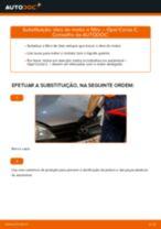 Como mudar óleo do motor e filtro em Opel Corsa C gasolina - guia de substituição