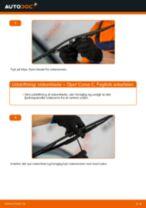 Hvordan skifter man og justere Vinduesvisker OPEL CORSA: pdf manual