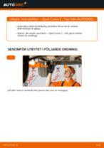 Byta bränslefilter på Opel Corsa C bensin – utbytesguide