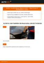 Kuinka vaihtaa moottoriöljy ja öljynsuodatin Opel Corsa C bensa-autoon – vaihto-ohje