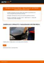 Kako zamenjati avtodel zavorne čeljusti zadaj na avtu Opel Corsa C bensin – vodnik menjave