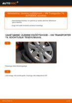 PDF asendamise juhend: Roolimine(risti-, piki-, põiki-) VW Transporter IV Buss (70B, 70C, 7DB, 7DK, 70J, 70K, 7DC, 7DJ) tagumine ja eesmine