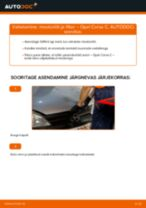 Kuidas vahetada Opel Corsa C bensiin mootoriõli ja filtrit – õpetus