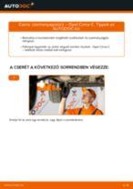 Lépésről-lépésre PDF-útmutató - OPEL CORSA C (F08, F68) Üzemanyagszűrő csere