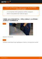 Lépésről lépésre kezelési útmutató OPEL AGILA