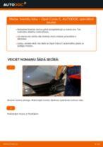 Kā nomainīt: aizmugures bremžu loku Opel Corsa C benzīns - nomaiņas ceļvedis