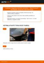 Kaip pakeisti Opel Corsa C benzinas būgninių stabdžių kaladėlių: galas - keitimo instrukcija