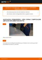 OPEL CORSA C (F08, F68) Zündkerzensatz ersetzen - Tipps und Tricks