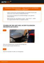 Wie Opel Corsa C Benzin Bremsbacken hinten wechseln - Anleitung