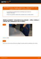 Comment changer : bougies d'allumage sur Opel Corsa C essence - Guide de remplacement
