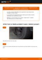 Comment changer : ressort de suspension avant sur Opel Corsa C essence - Guide de remplacement