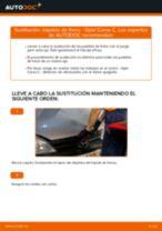 Cómo cambiar: zapatas de freno de la parte trasera - Opel Corsa C gasolina | Guía de sustitución