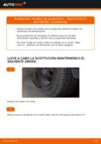 Cómo cambiar: muelles de suspensión de la parte delantera - Opel Corsa C gasolina   Guía de sustitución