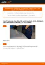 Istruzioni gratuite online su come rinnovare Candela di accensione OPEL CORSA C (F08, F68)
