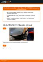 Byta bromsbackar bak på Opel Corsa C bensin – utbytesguide