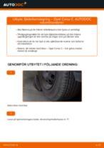 Byta fjäderbenslagring fram på Opel Corsa C bensin – utbytesguide