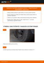 Ako vymeniť predné horné uloženie tlmiča na Opel Corsa C bensin – návod na výmenu