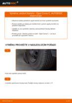Jak vyměnit přední uložení tlumiče na Opel Corsa C benzín – návod k výměně