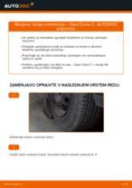 Kako zamenjati avtodel ležaj amortizerja spredaj na avtu Opel Corsa C bensin – vodnik menjave