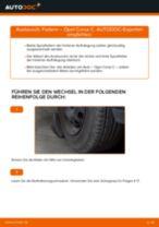 Wie Stoßdämpfer Feder hinten links rechts beim OPEL CORSA C (F08, F68) wechseln - Handbuch online