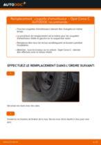 Comment changer : coupelle d'amortisseur avant sur Opel Corsa C essence - Guide de remplacement