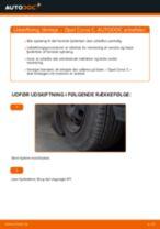 Udskift tårnleje for - Opel Corsa C benzin   Brugeranvisning