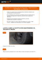 Cómo cambiar: copelas del amortiguador de la parte delantera - Opel Corsa C gasolina | Guía de sustitución