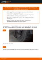 Come cambiare supporto ammortizzatore della parte anteriore su Opel Corsa C benzina - Guida alla sostituzione