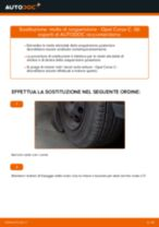 Come cambiare molle di sospensione della parte posteriore su Opel Corsa C benzina - Guida alla sostituzione