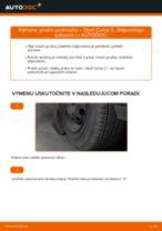 Výmena Pruženie OPEL CORSA: dielenská príručka