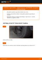 OPEL CORSA Rėmas, stabilizatoriaus tvirtinimas keitimas: nemokamas pdf