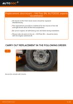 Step by step PDF-tutorial on Accessory Kit, disc brake pads Mercedes W211 replacement