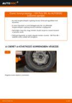 Elülső toronycsapágy-csere VW Polo 9N gépkocsin – Útmutató