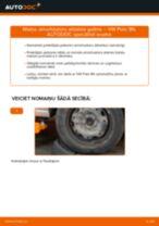 Kā nomainīt un noregulēt Amortizatora statnes balsts VW POLO: pdf ceļvedis