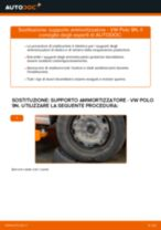 Come cambiare supporto ammortizzatore della parte posteriore su VW Polo 9N - Guida alla sostituzione
