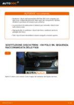 Come cambiare dischi freno della parte posteriore su VW Polo 9N - Guida alla sostituzione