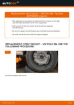 How to change rear strut mount on VW Polo 9N – replacement guide