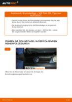 Bremsbeläge erneuern VW POLO: Werkstatthandbücher